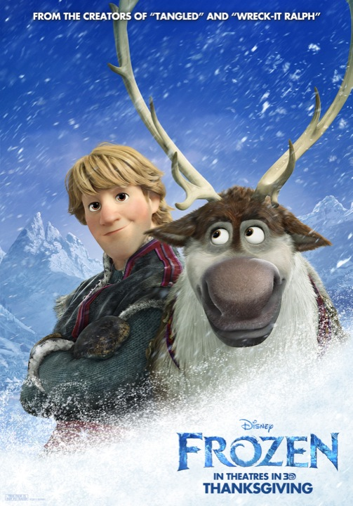 Character posters for its up coming film frozen and here they are